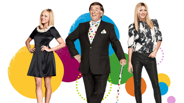 Fearne Cotton, Sir Terry Wogan and Tess Daly
