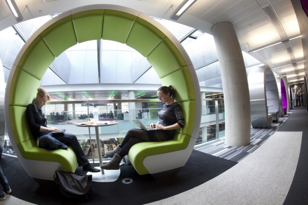 Shot of round meetings chairs at MediaCityUK