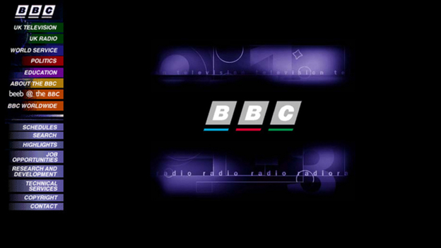 An early image of BBC Online