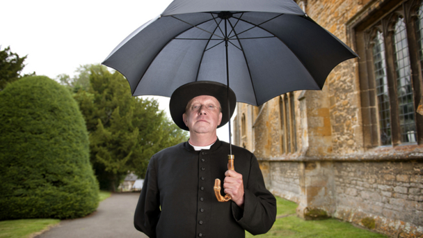 Mark Williams as Father Brown (credit BBC/Des Willie)