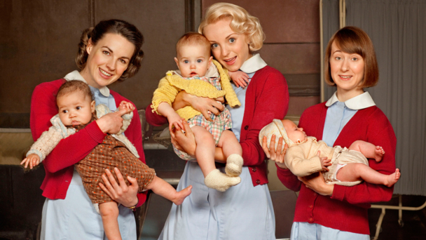 Jessica Raine, Helen George, Bryony Hannah (credit BBC/Neal Street Productions/Laurence Cendrowicz)