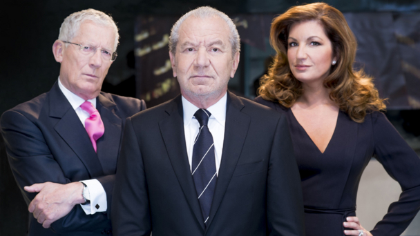 Nick Hewer, Lord Alan Sugar and Karren Brady