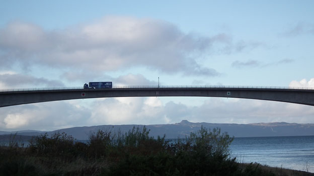 Crossing the Skye Bridge, the Screen Machine continues it's tour of the Hebrides.