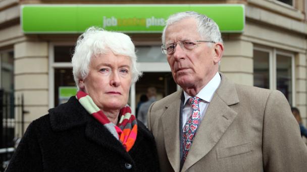 Nick Hewer and Margaret Mountford