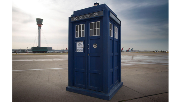 Tardis at Heathrow Airport