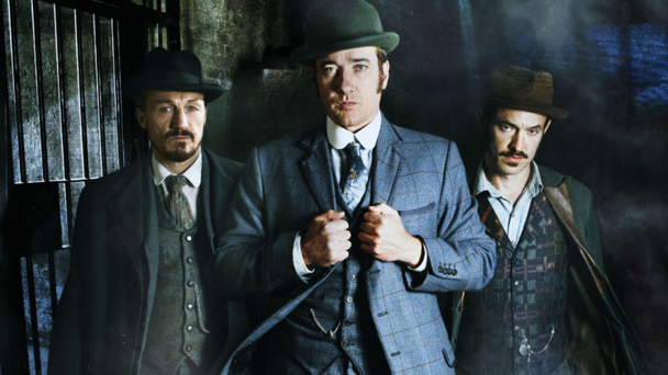 Jerome Flynn, Matthew Macfadyen, Adam Rothenberg (credit BBC/Tiger Aspect)