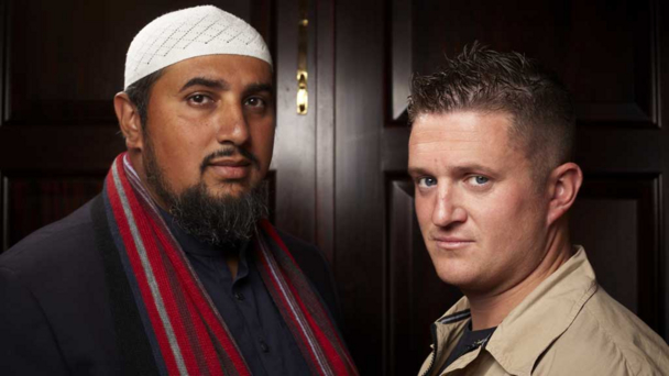 Mohammed Ansar and Tommy Robinson