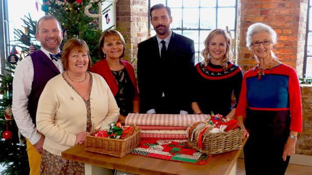 (L-R) Stuart Hillard, Sandra Lavender, May Martin, Patrick Grant, Lauren Guthrie, Anne Rowley (Credit:BBC/Love Productions)