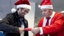 At Swansea's third largest call centre, Nev Wilshere and his staff are in festive mood.