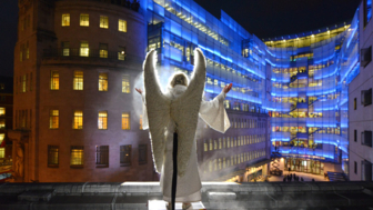 Nativity comes to life outside Broadcasting House on Dec 19