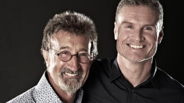 Eddie Jordan, David Coulthard (credit BBC/Jonathan Stewart)