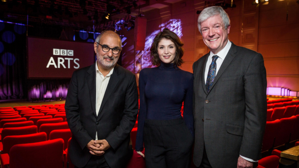 Alan Yentob, Gemma Arterton and Tony Hall at the BBC Arts launch on 25 March 2014