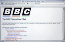 The BBC Networking Club's first webpage