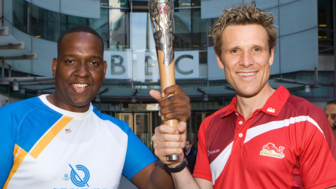The Queen's Baton Relay arrives at Broadcasting House