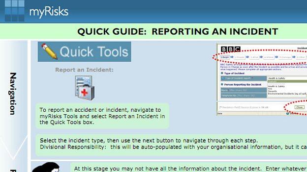 myRisks Tools guidance