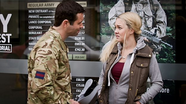 Sgt. Peters (Andrew Scarborough) and Molly (Lacey Turner)