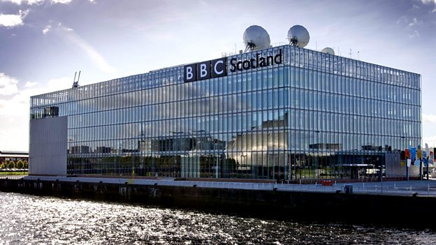 BBC Scotland headquarters at Pacific Quay in Glasgow