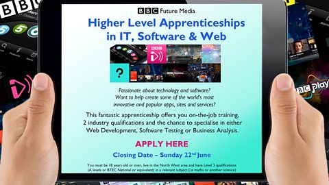 Future Media Apprenticeships - currently closed
