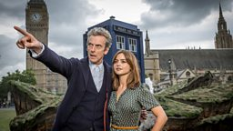 TARDIS crash lands on London's iconic Parliament Square ahead of Doctor Who series launch