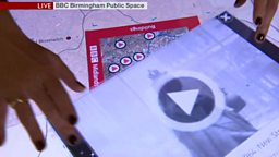 "Archive touch-table developed for 50th anniversary of ""Midlands Today"""