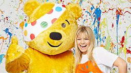 Kate Thornton gets messy for BBC Children in Need