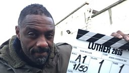 Idris Elba steps onto set for Luther two-part special