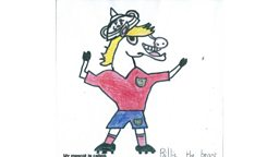 Billie the White Horse wins the Blue Peter FA Mascot Competition