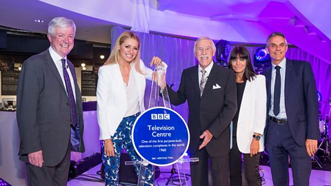 First blue plaque on BBC heritage trail unveiled