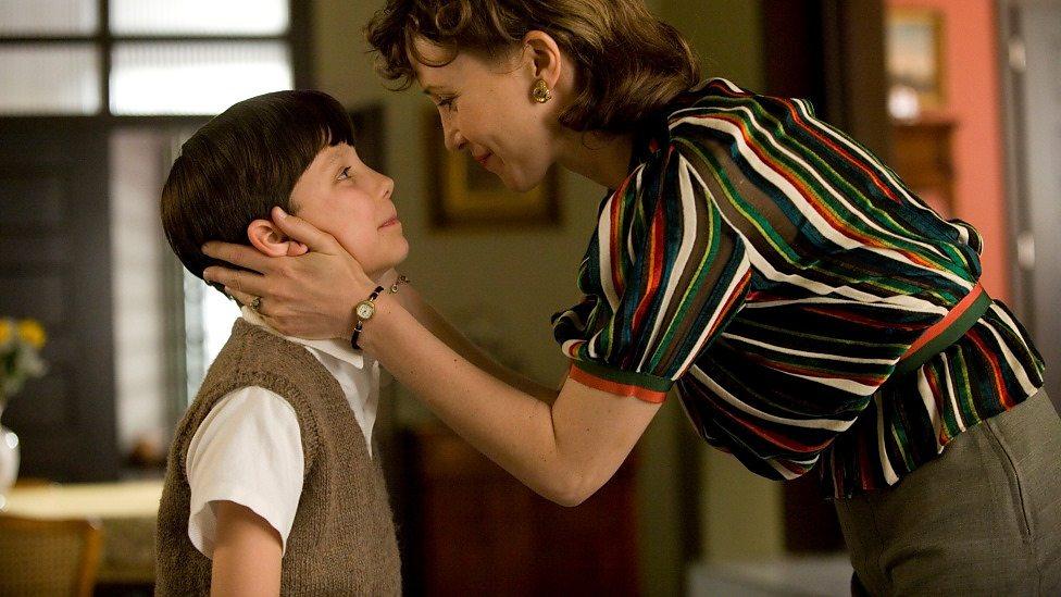 Asa Butterfield and Vera Farmiga in The Boy in the Striped Pyjamas