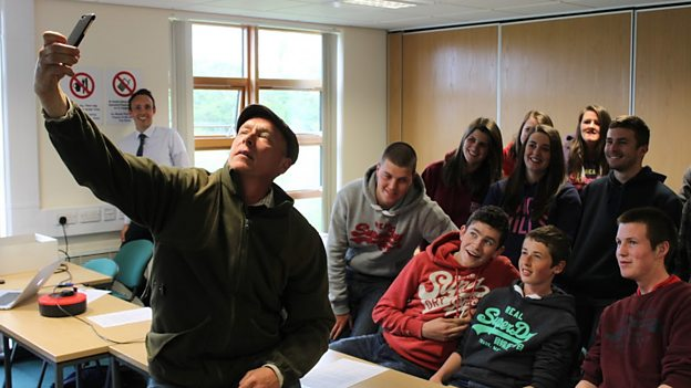 Coleg Meirion Dwyfor agriculture students at the Glynllifon campus