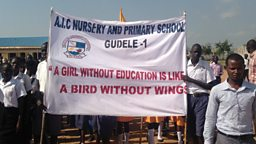 A girl without education is like a bird without wings