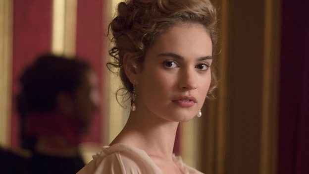 Lily James plays Natasha