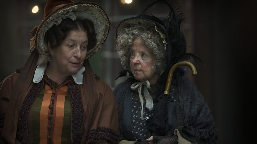 Mrs Bumble (Caroline Quentin) from Oliver Twist and Mrs Gamp (Pauline Collins) from Martin Chuzzlewit
