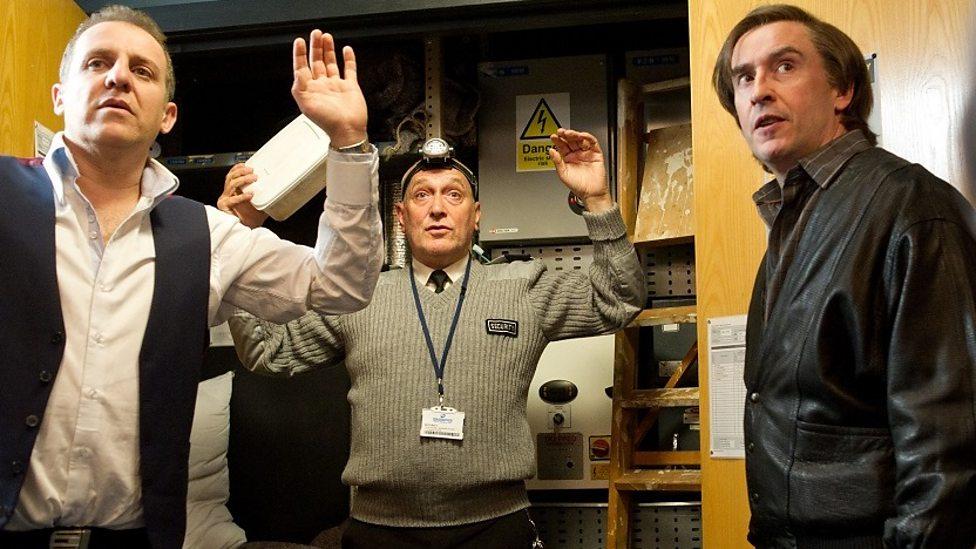 Nigel Lindsay, Simon Greenall, Steve Coogan in Alan Partridge: Alpha Papa