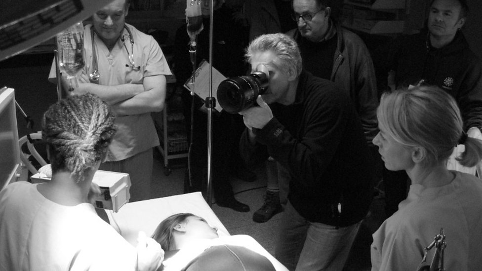 David Cronenberg and Naomi Watts on the set of Eastern Promises