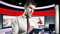 Rhod Gilbert faces gunpoint drama in quest for journalist role
