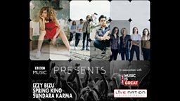 BBC Music Presents... Spring King, Izzy Bizu and Sundara Karma US tour