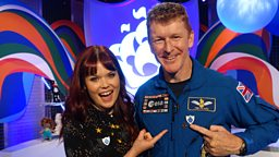 Out of this World! Tim Peake achieves legendary status as he joins the starry list of Gold Blue Peter badge holders