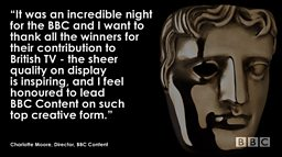 Record number of BBC wins at this year's BAFTAs