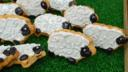 Bara brith sheep biscuits