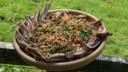 Welsh lamb in hay with tabbouleh salad