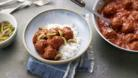 Meatballs in tomato sauce with cinnamon and cumin (Soutzoukakia)