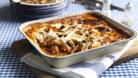 Penne and sausage pasta bake
