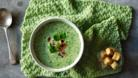 Watercress and pea soup