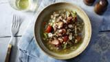Almond lentil stew