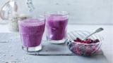 Blackberry and apple crumble smoothie