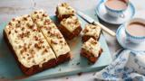 Carrot and sultana cake with creamy orange frosting