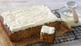 Moist carrot cake with coconut orange cream