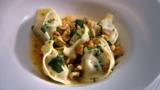 Ceps tortellini with roasted nuts and sage butter