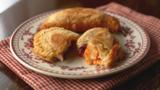 Cheese and tomato chutney turnovers